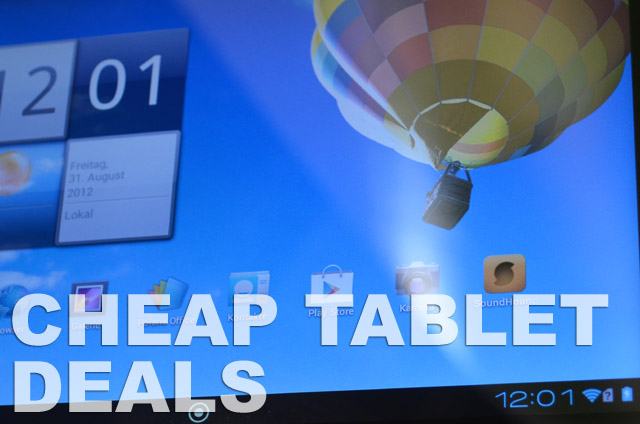 Cheap Android iPad and Windows 8 Tablet Deals